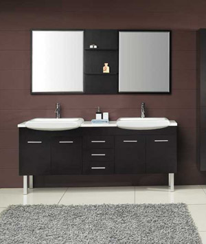 modern double bathroom vanity